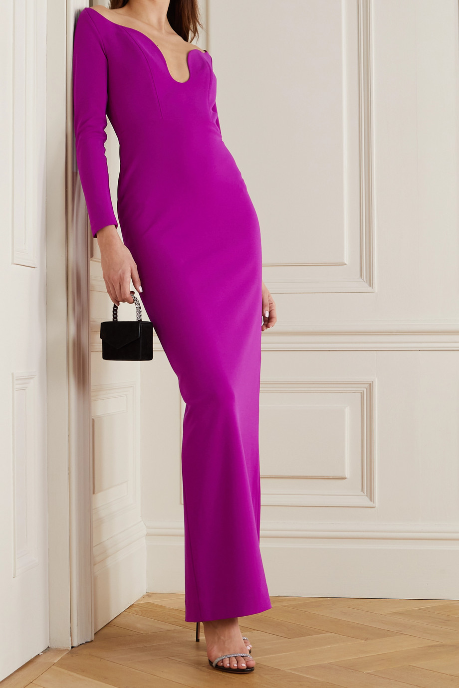 Solace London Sanna stretch-crepe gown