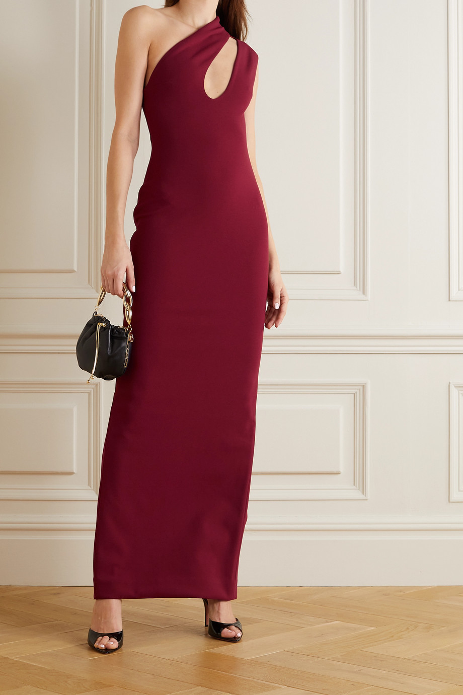 Solace London Krista cutout stretch-crepe maxi dress