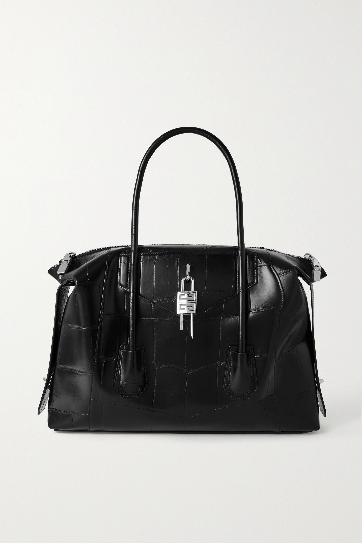 Givenchy Sac à main en cuir effet croco Antigona Soft Lock Medium
