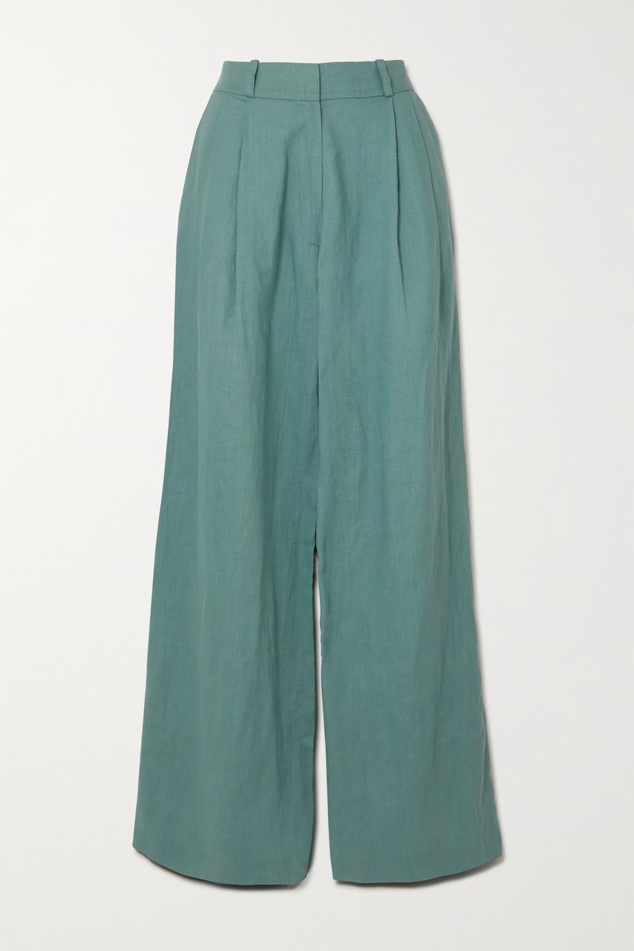Miguelina Ainsley linen wide-leg pants