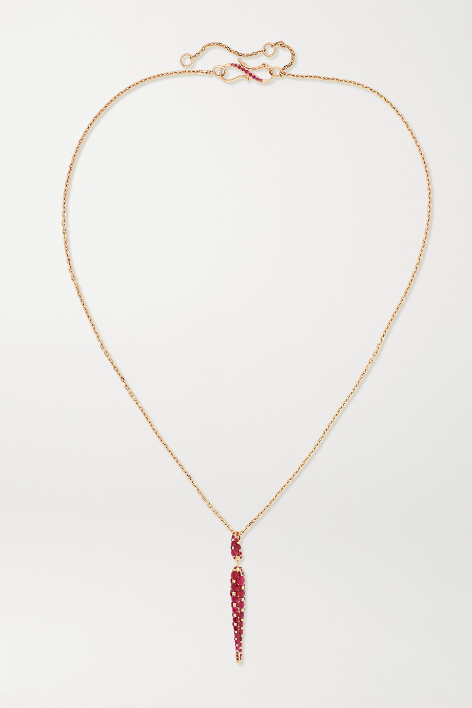 Boghossian Merveilles Icicle 18-karat rose gold ruby necklace