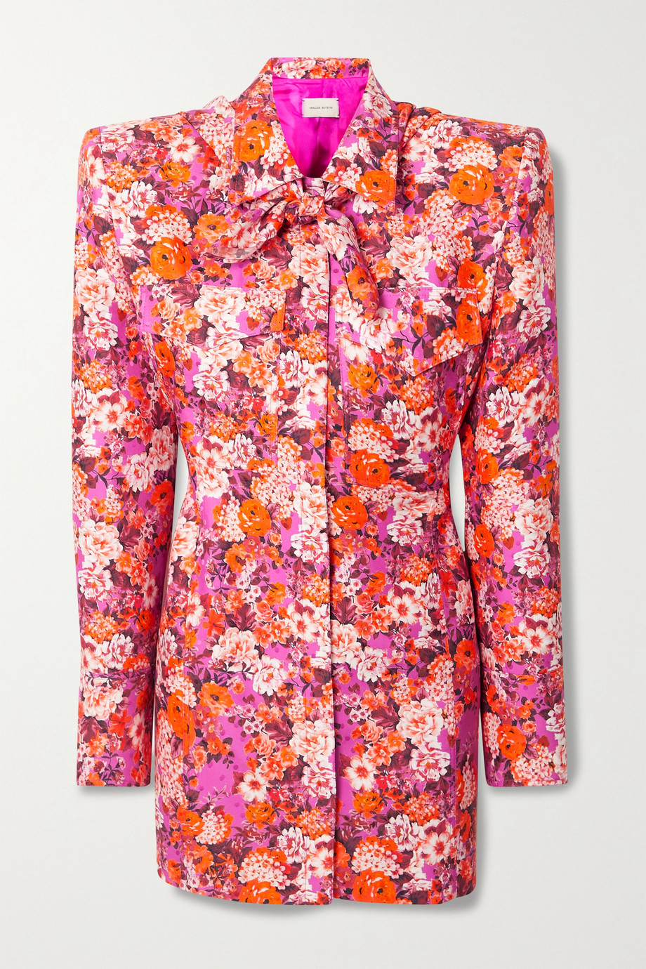 Magda Butrym Floral-print silk mini shirt dress