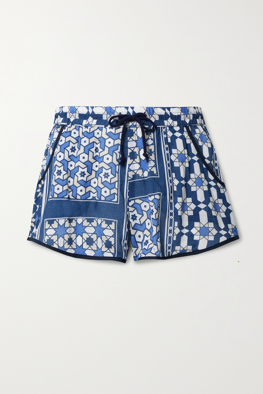 Paradised + NET SUSTAIN Hanna printed voile shorts