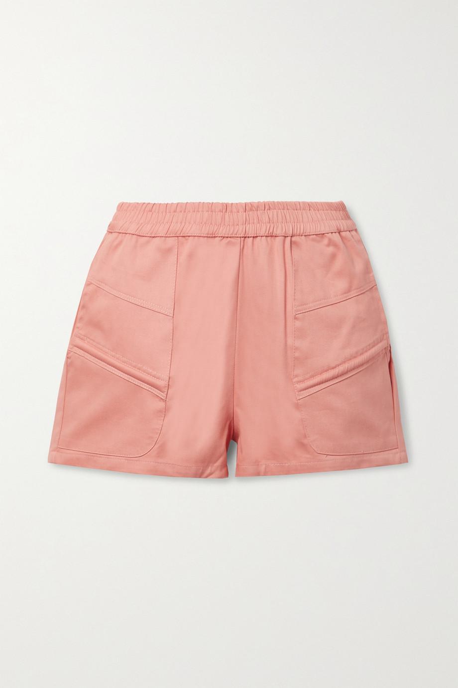 Paradised + NET SUSTAIN Prim cotton-twill shorts