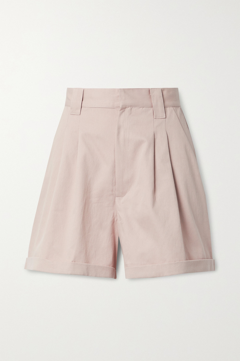 Paradised Jamie pleated cotton-twill shorts