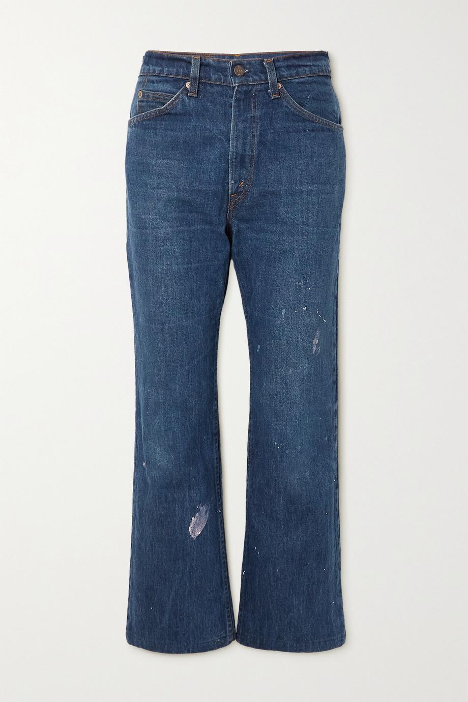 Valentino + Levi's® 1969 517 halbhohe Bootcut-Jeans mit Print