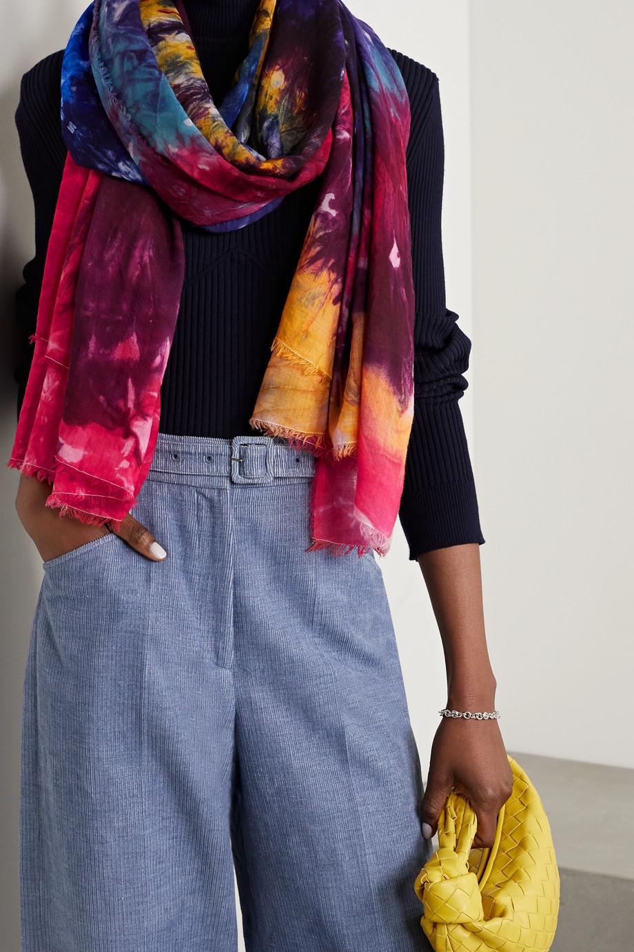 Gabriela Hearst Severino frayed tie-dyed cashmere scarf