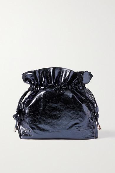 Isabel Marant AILEY METALLIC CRINKLED-LEATHER SHOULDER BAG