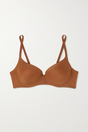 Nubian Skin Naked stretch-tulle underwired T-shirt bra