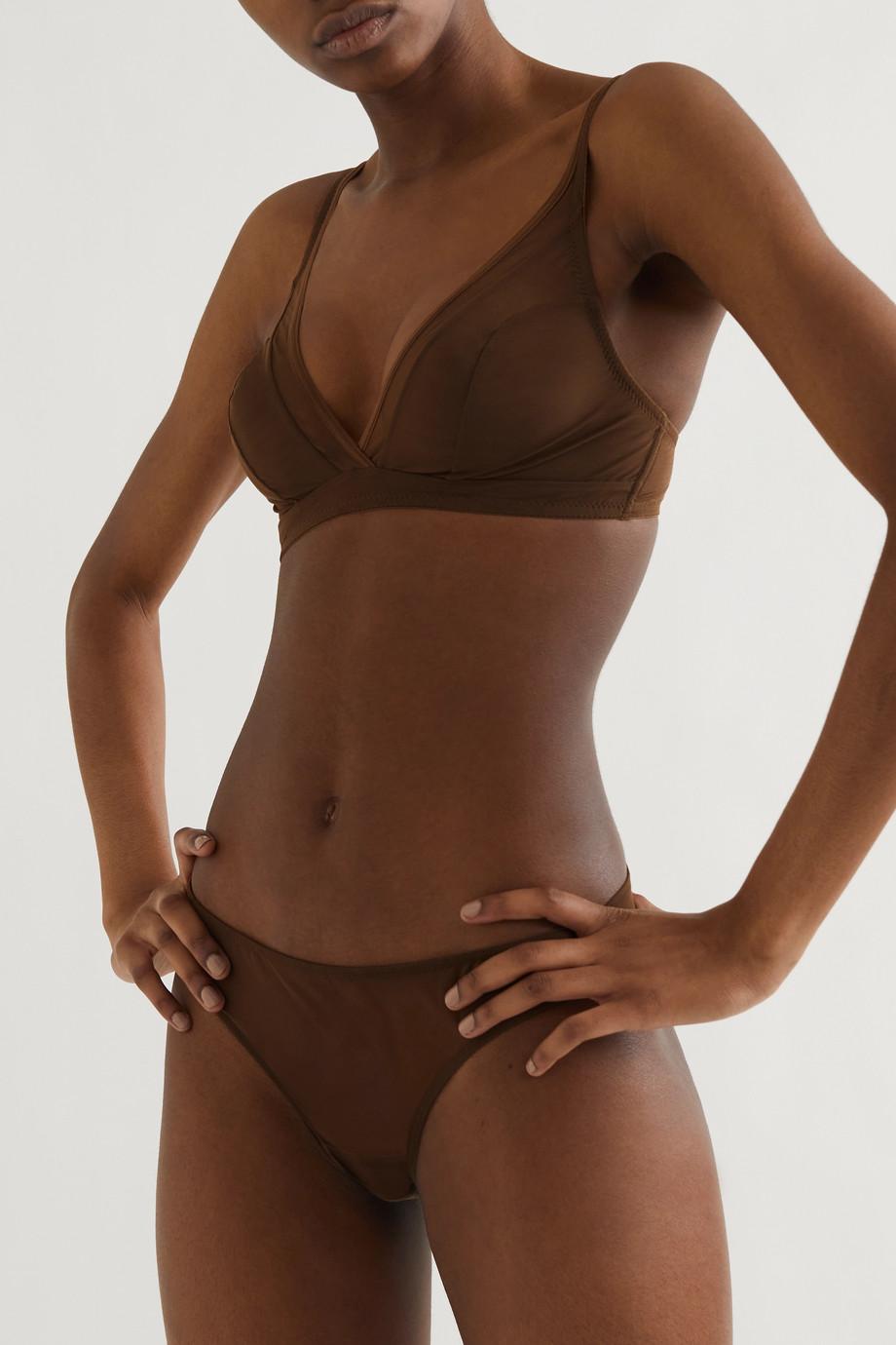 Nubian Skin Stretch-tulle soft cup bra