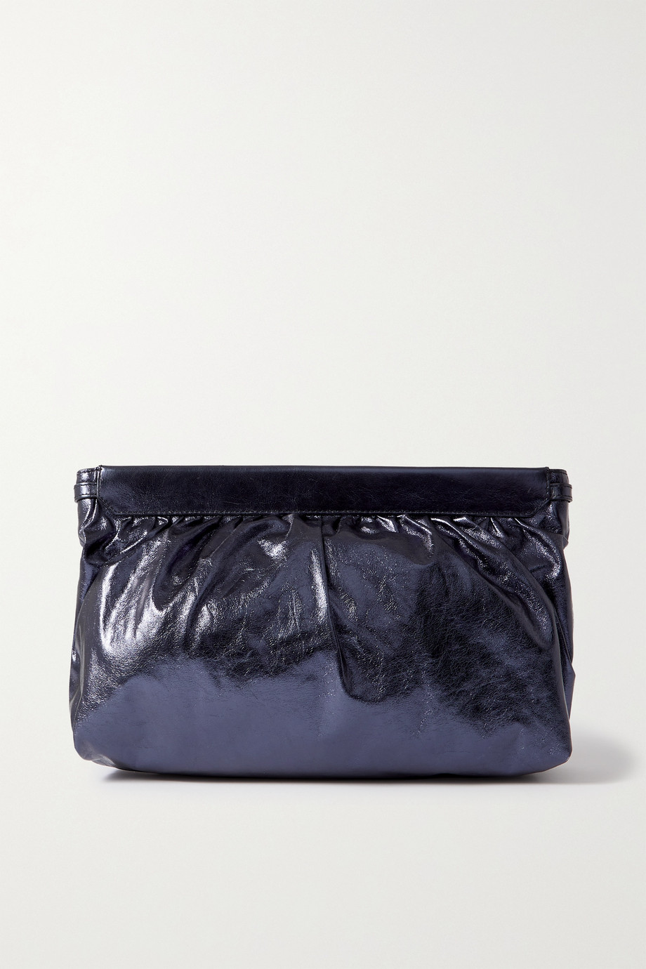 Isabel Marant Luz metallic crinkled-leather clutch