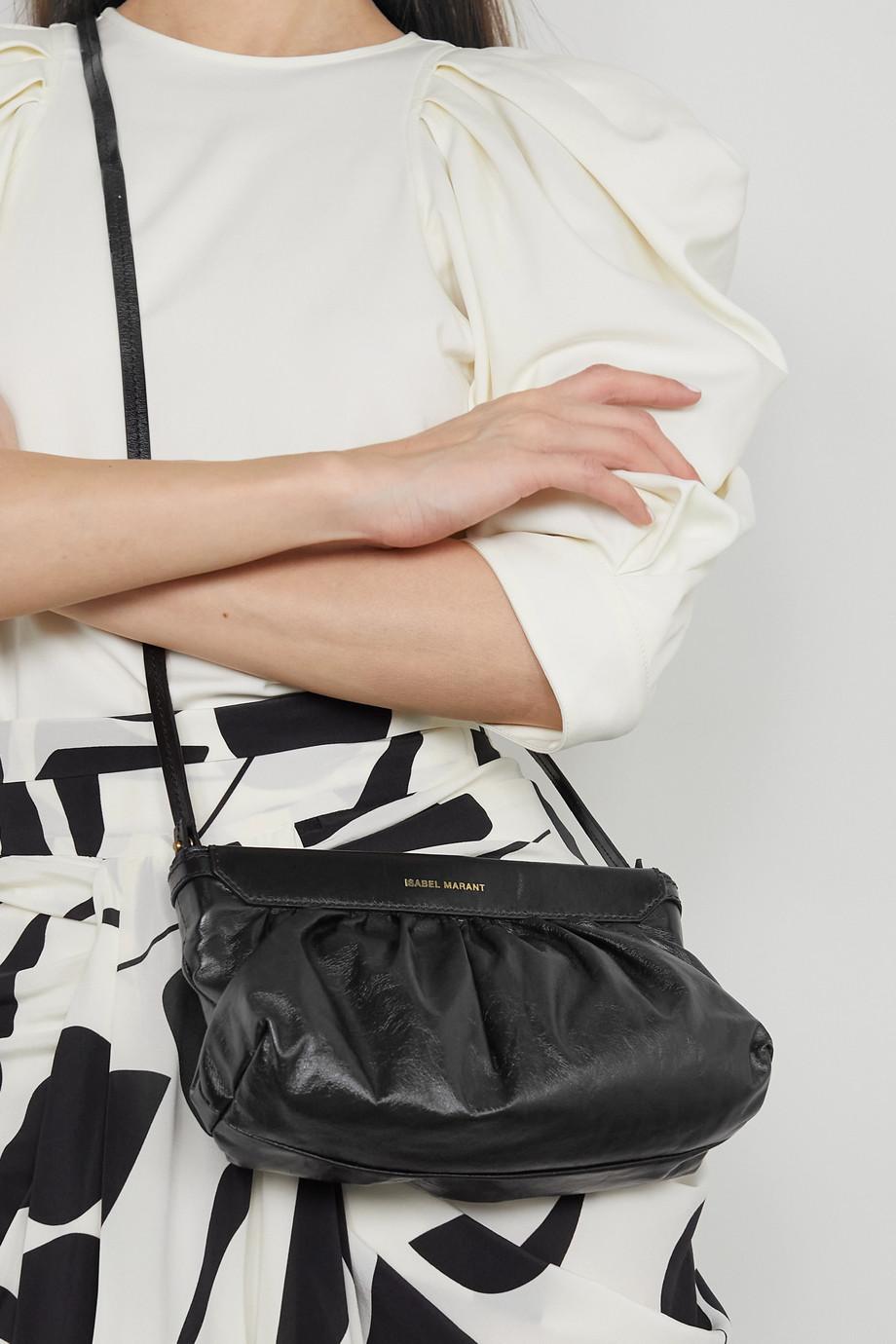 Isabel Marant Luzes gathered leather shoulder bag