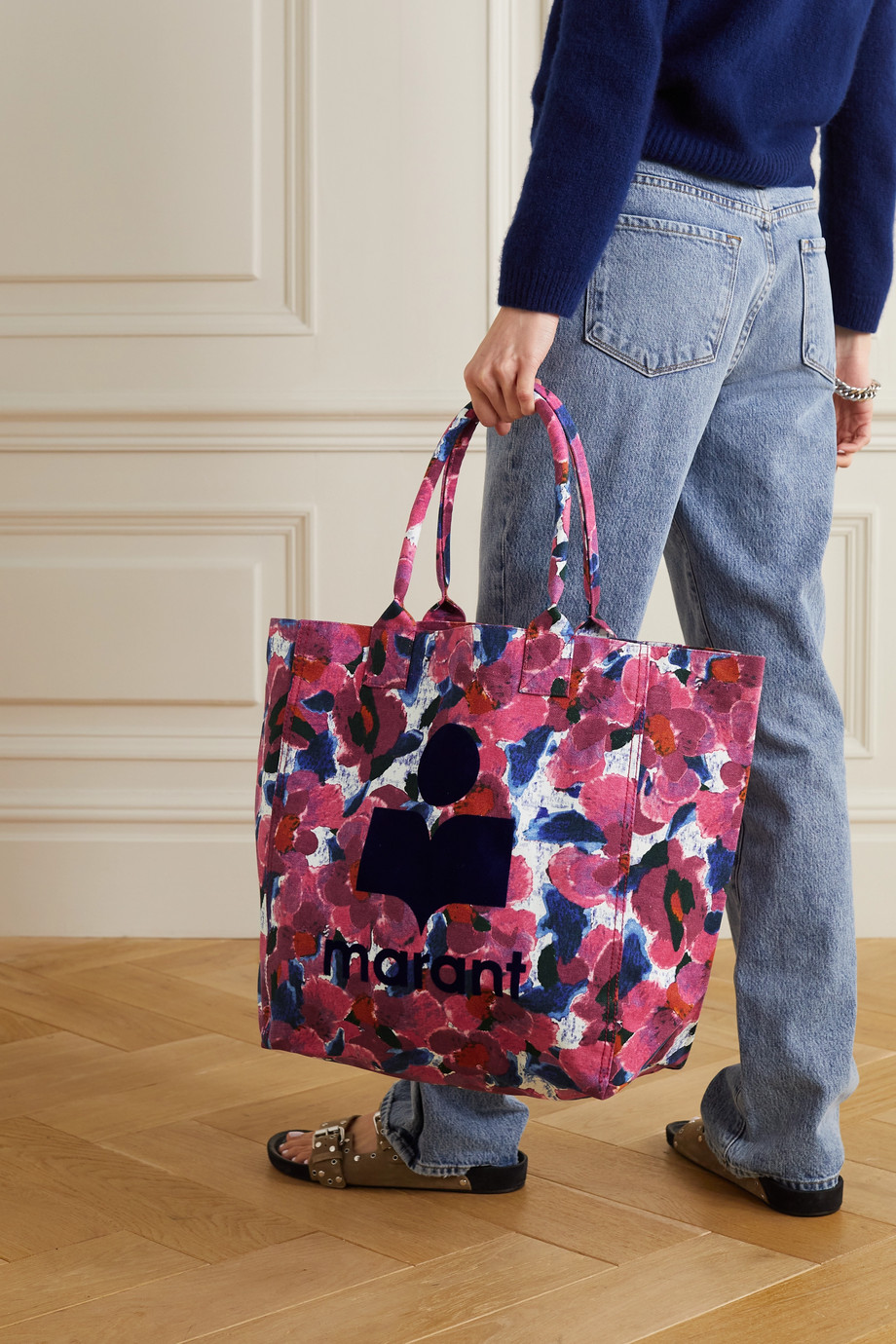 Isabel Marant Yenky floral-print cotton-canvas tote