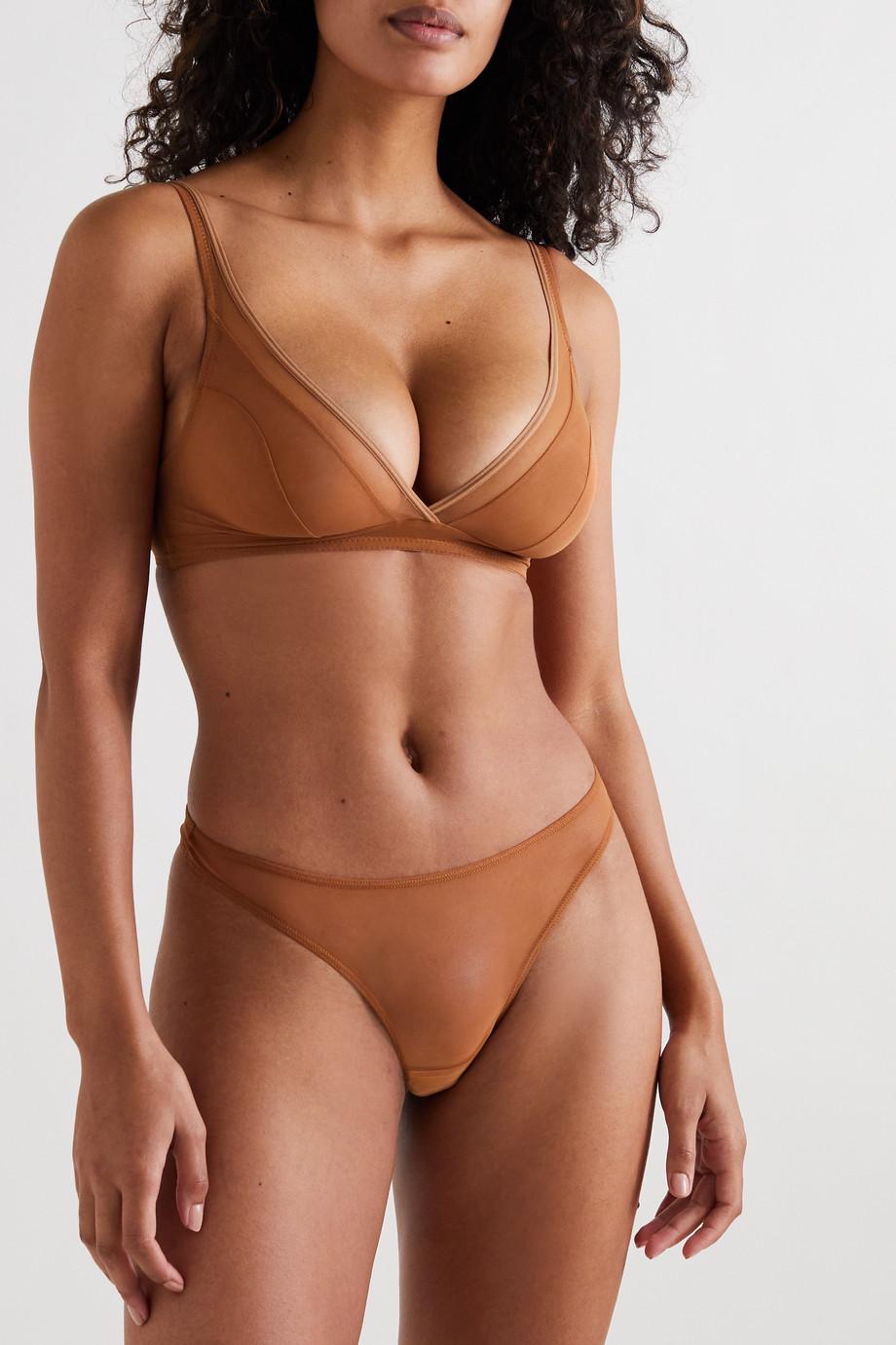 Nubian Skin String en tulle stretch Perfect