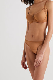 Nubian Skin Perfect stretch-tulle thong