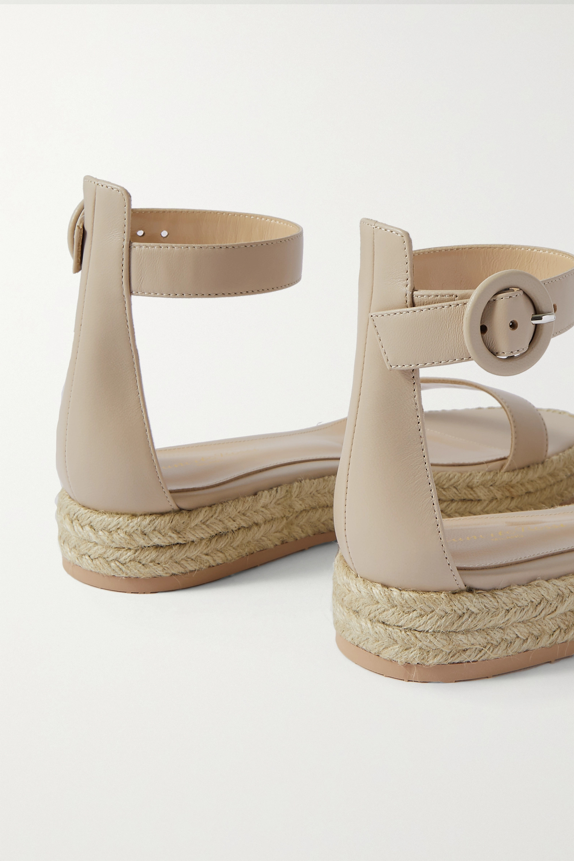 Gianvito Rossi Sandales plates-formes façon espadrilles en cuir