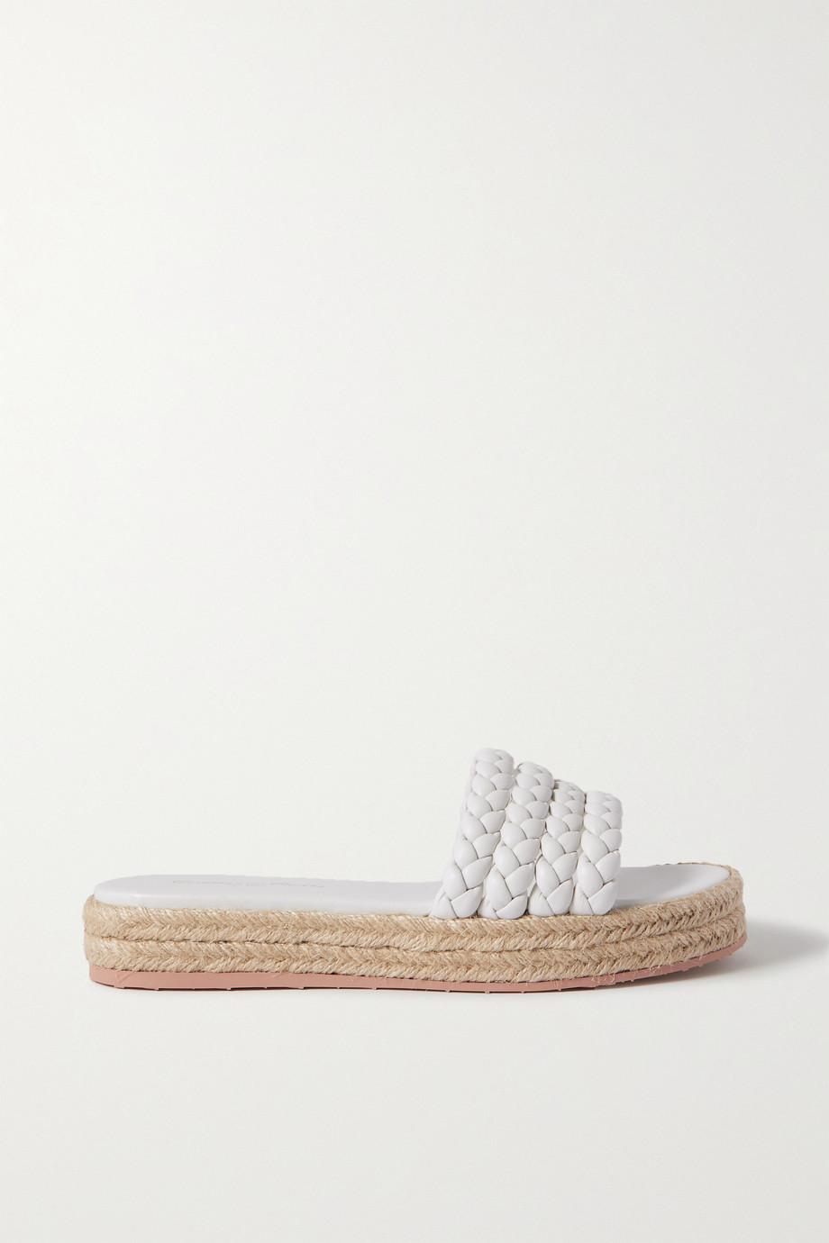 Gianvito Rossi Marbella braided leather espadrille slides