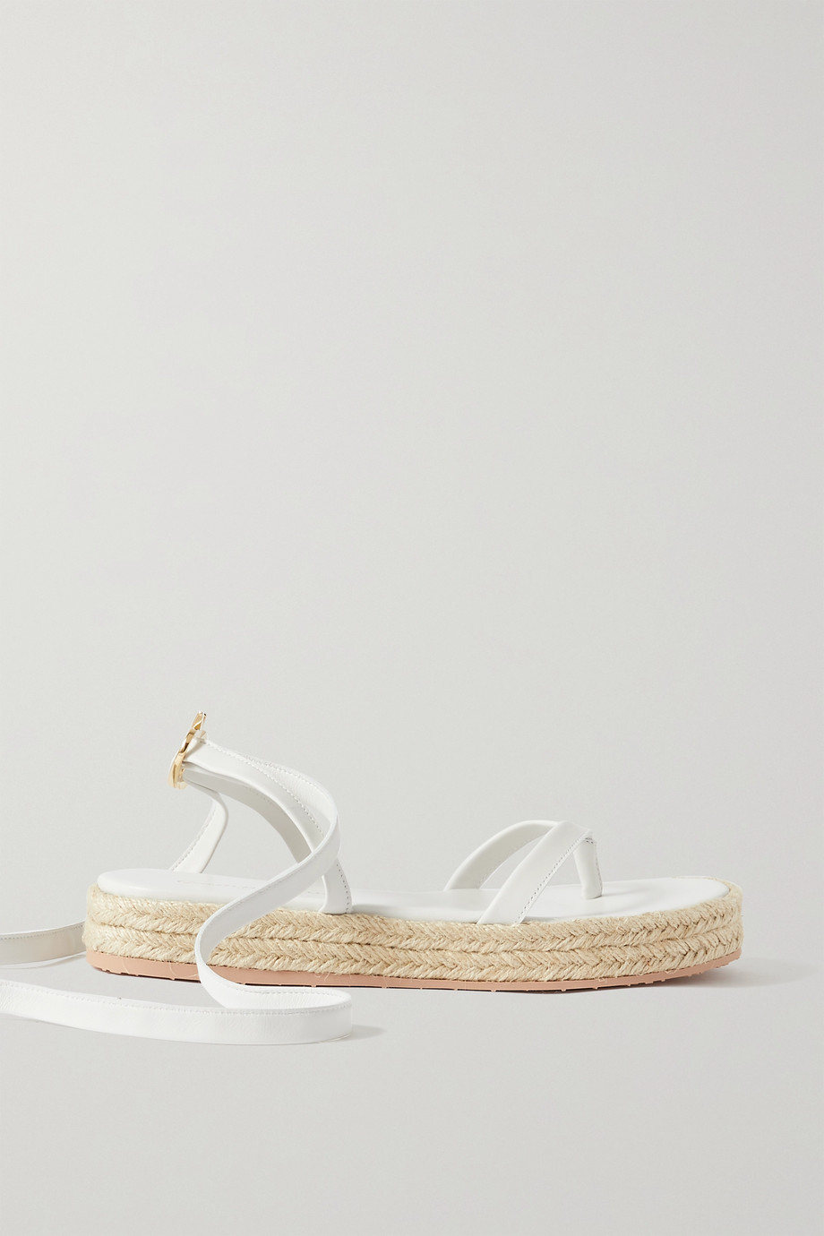 Gianvito Rossi Ribbon Beachclub leather espadrille sandals