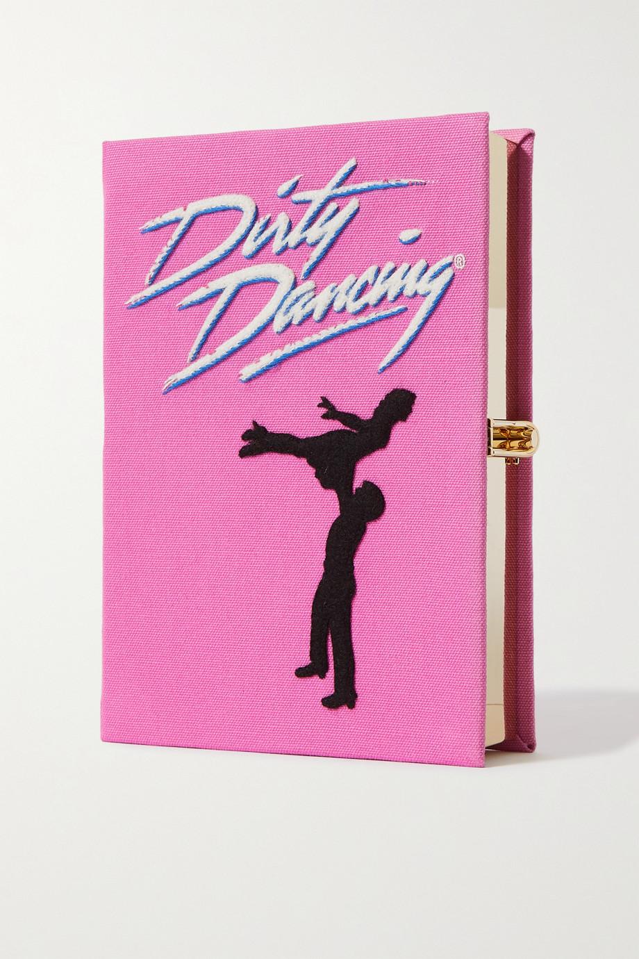 Olympia Le-Tan Pochette en toile à appliqué et à broderies Dirty Dancing