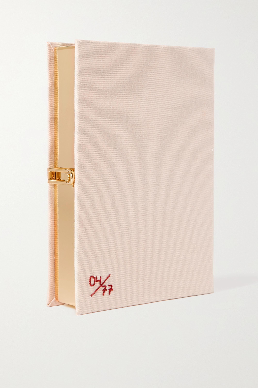 Olympia Le-Tan Harper's Bazaar embroidered appliquéd canvas clutch