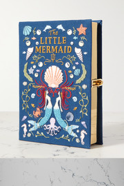 Olympia Le-Tan The Little Mermaid embroidered appliquéd canvas clutch