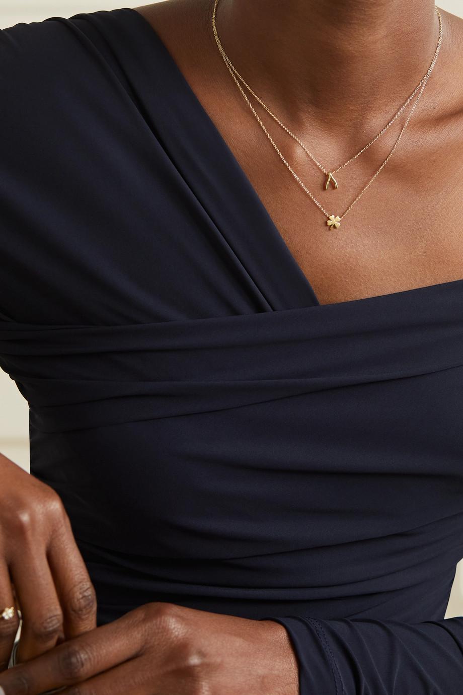 Jennifer Meyer Mini Clover 18-karat gold necklace
