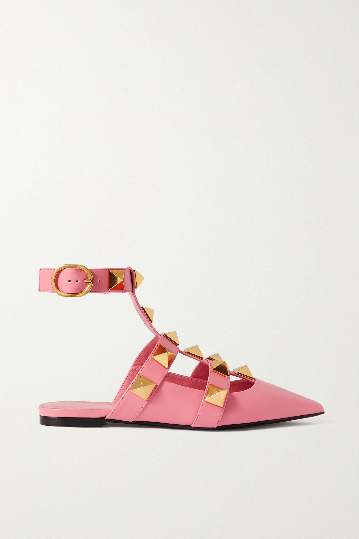 Valentino Valentino Garavani Roman Stud leather point-toe flats