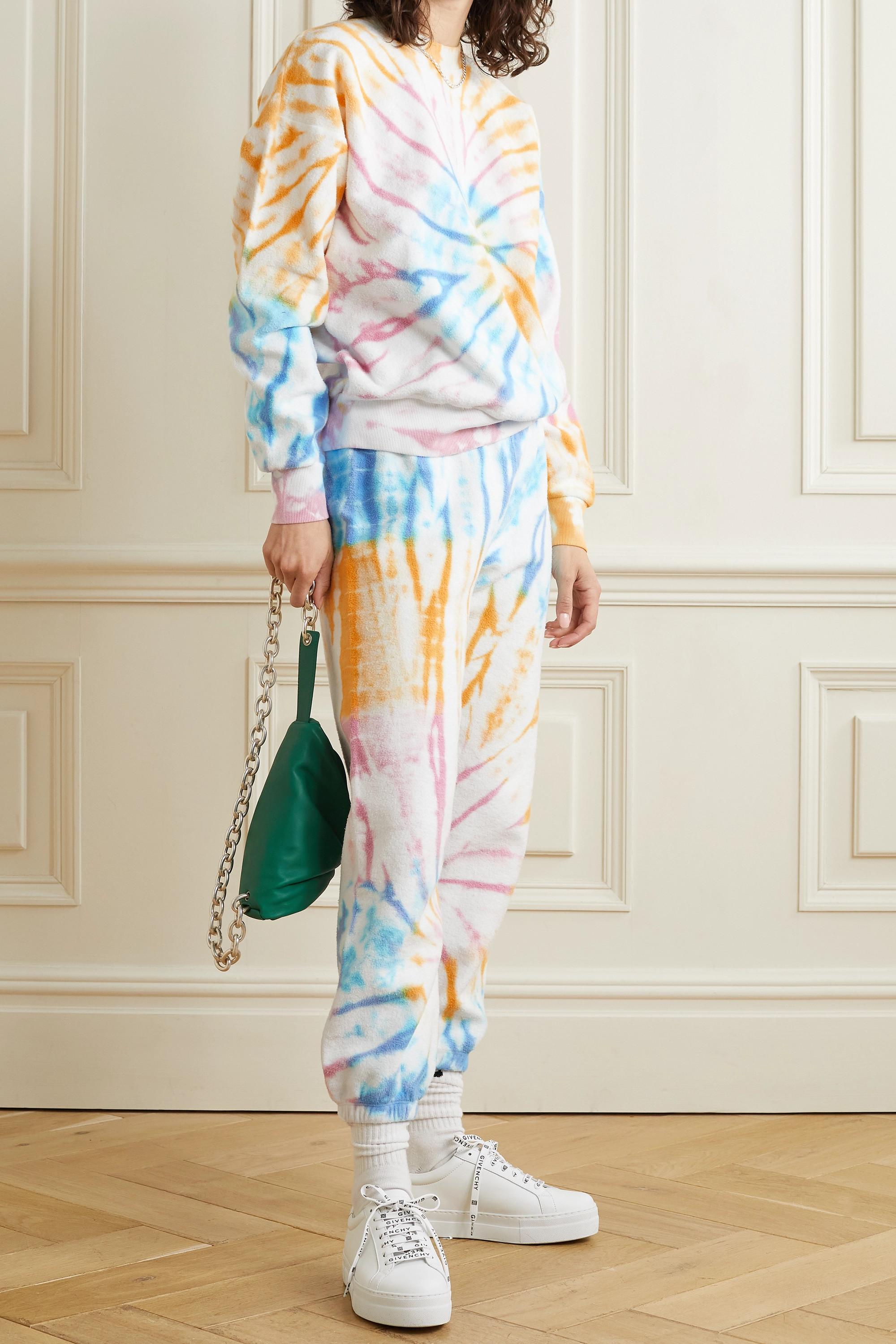 SPRWMN Pantalon de survêtement en molleton de coton tie & dye