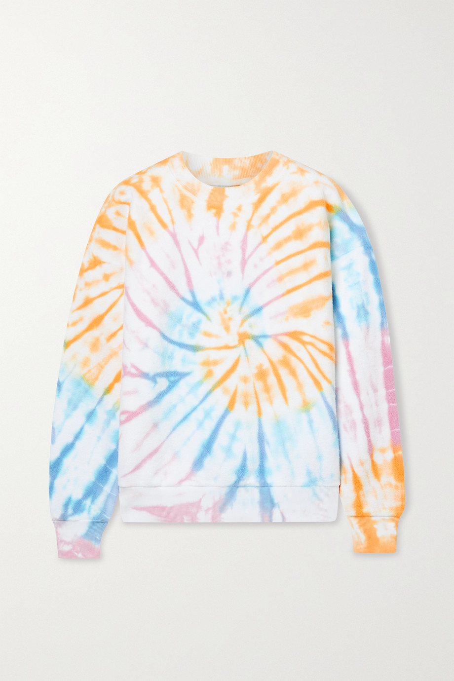 SPRWMN Tie-dyed cotton-fleece sweatshirt