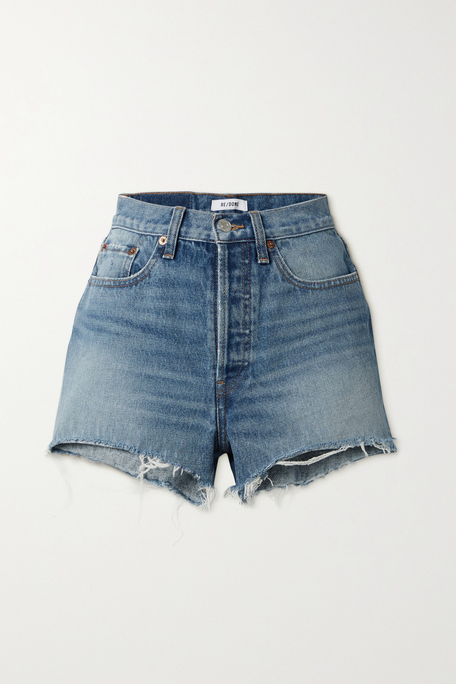 RE/DONE 70s Jeansshorts in Distressed-Optik
