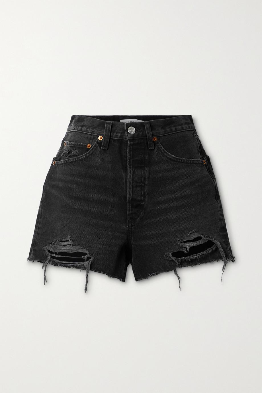 RE/DONE 50s Jeansshorts mit Fransen