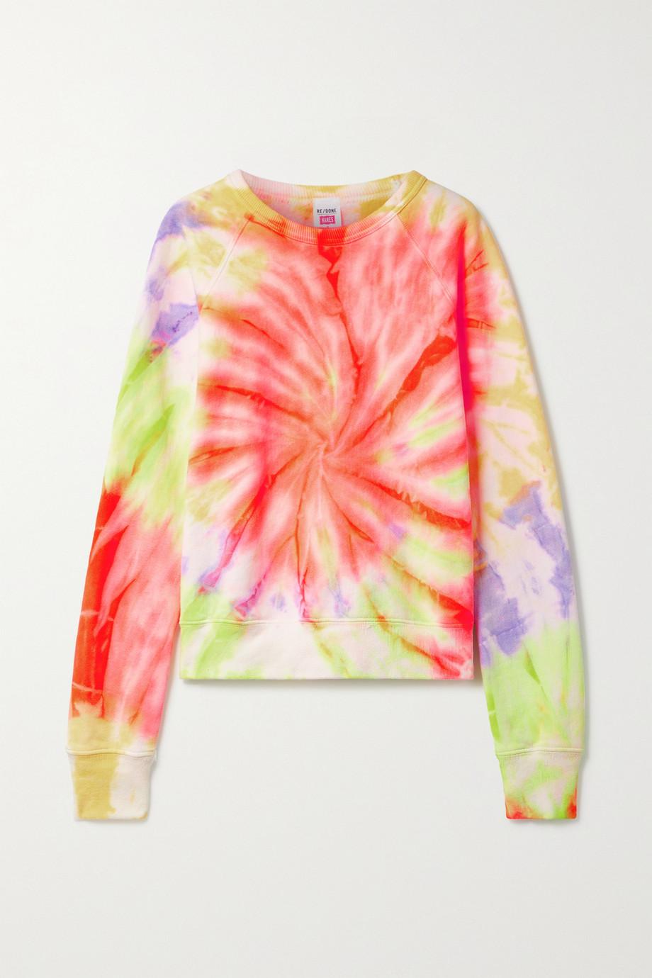 RE/DONE Sweatshirt aus Baumwoll-Jersey mit Batikmuster
