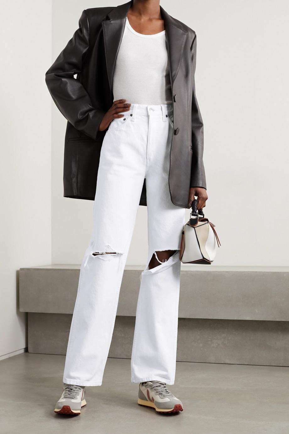 RE/DONE 90s hoch sitzende Jeans mit geradem Bein in Distressed-Optik