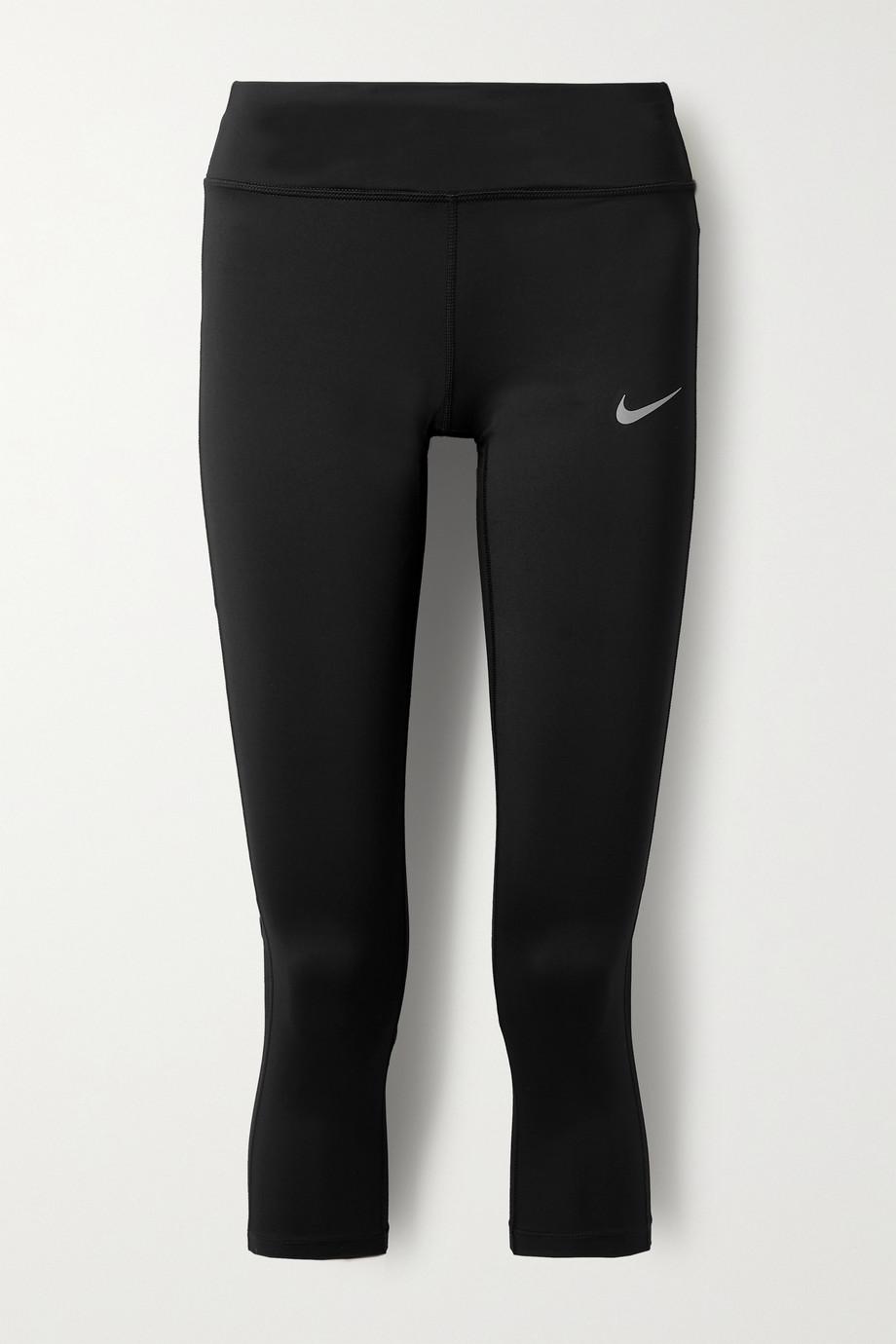 Nike Racer cropped mesh-trimmed Dri-FIT leggings
