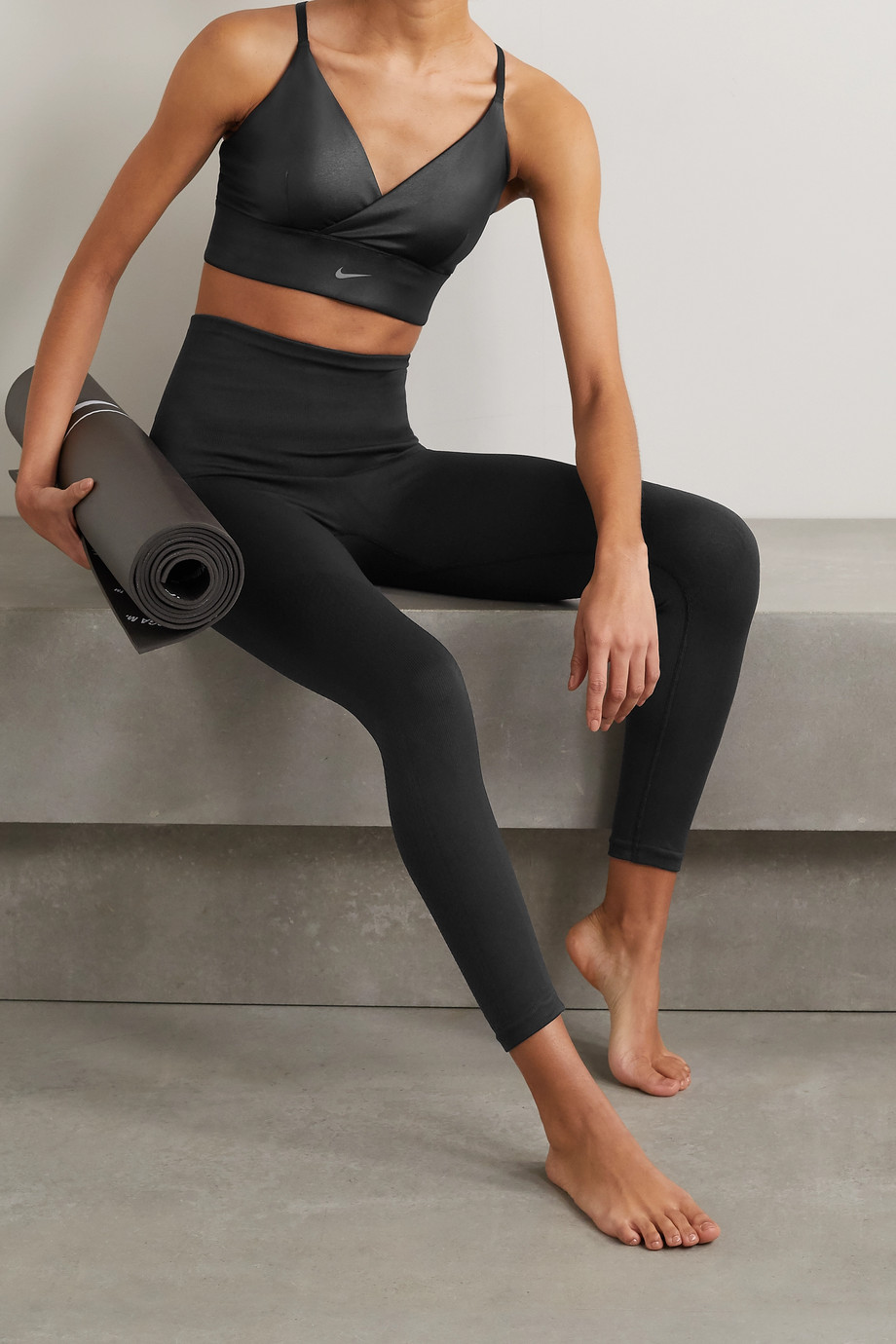 Nike Indy coated Dri-FIT sports bra
