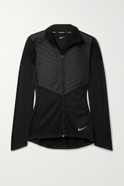 Nike Quilted shell and stretch-jersey jacket