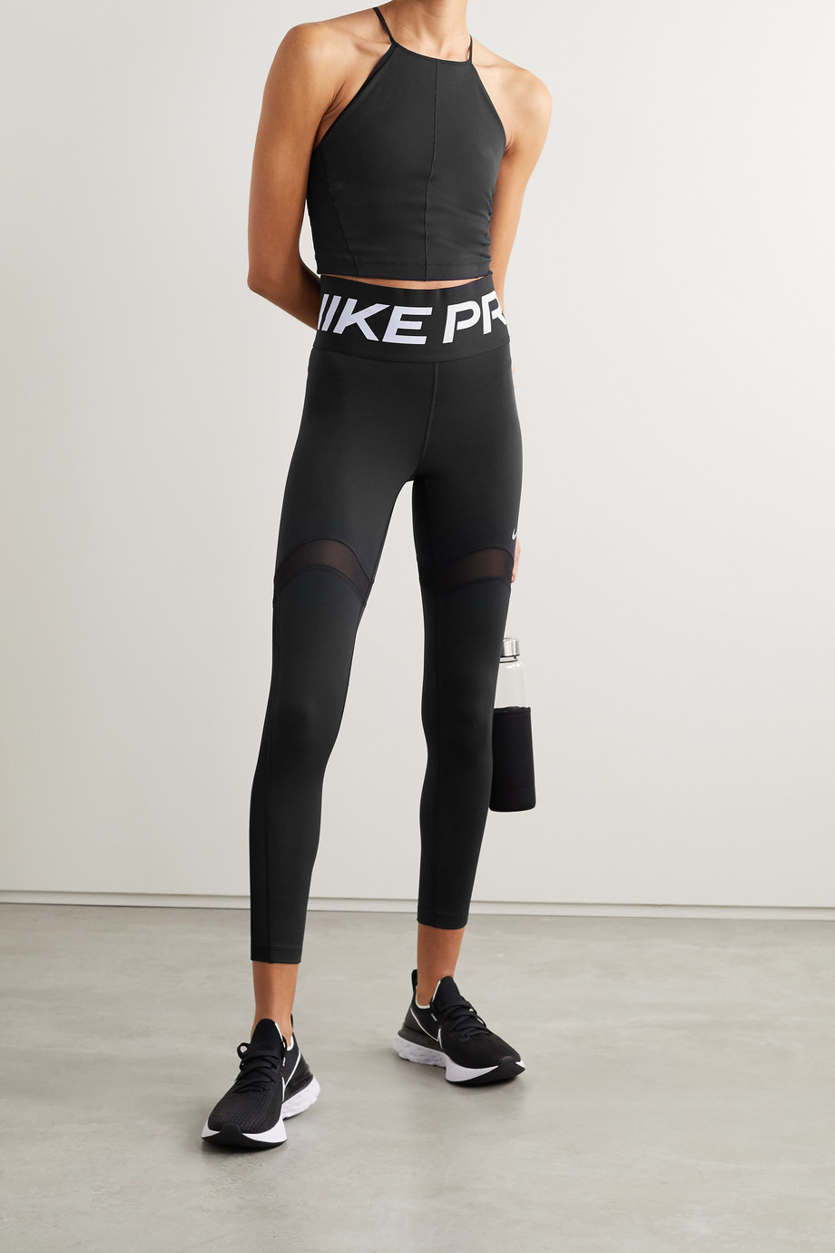 Nike Pro Stealth Luxe mesh-trimmed Dri-FIT leggings
