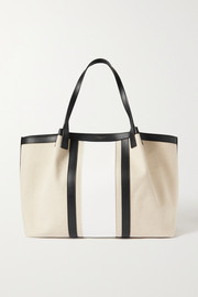 Serapian Secret leather-trimmed canvas tote