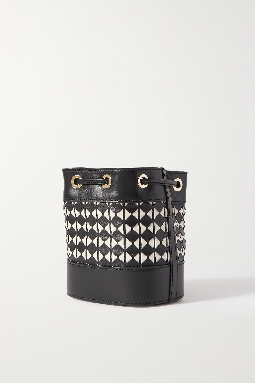 Serapian Mini woven leather bucket bag
