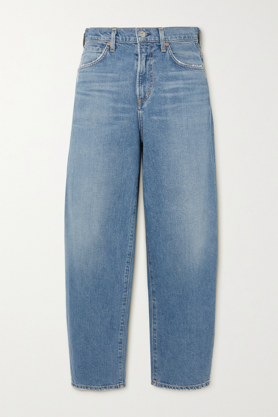 Citizens of Humanity Calista distressed organic high-rise tapered jeans