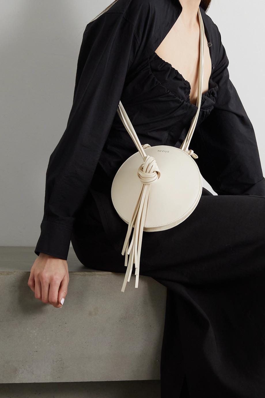 Neous Mercury tasseled leather shoulder bag