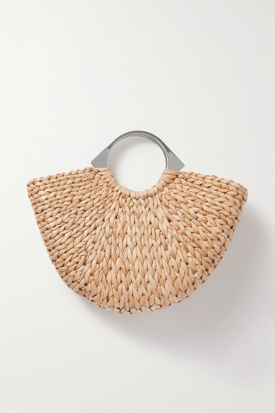 Paco Rabanne Op'art woven straw tote