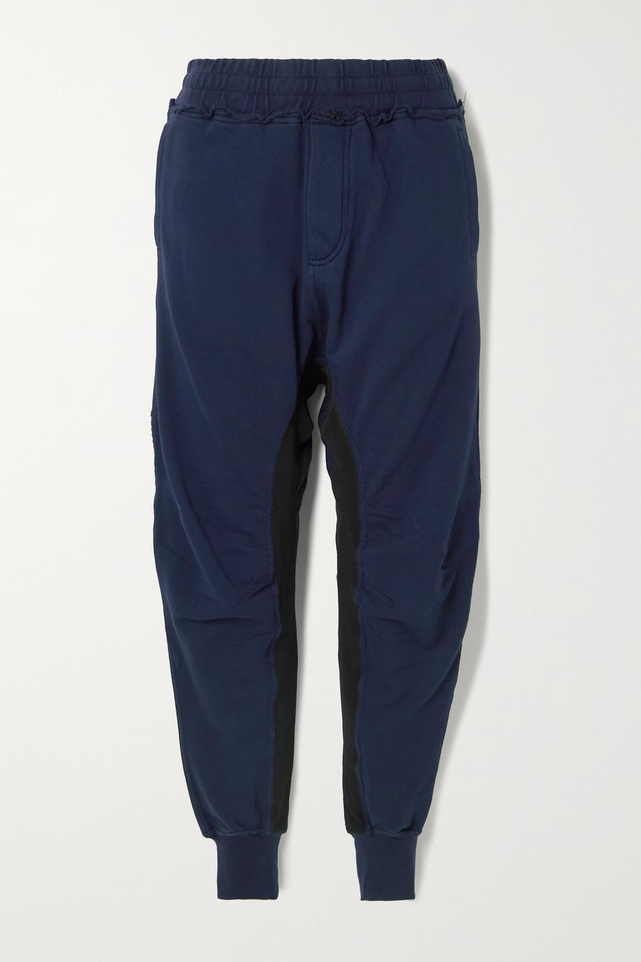 Haider Ackermann Moonshape paneled cotton-jersey track pants