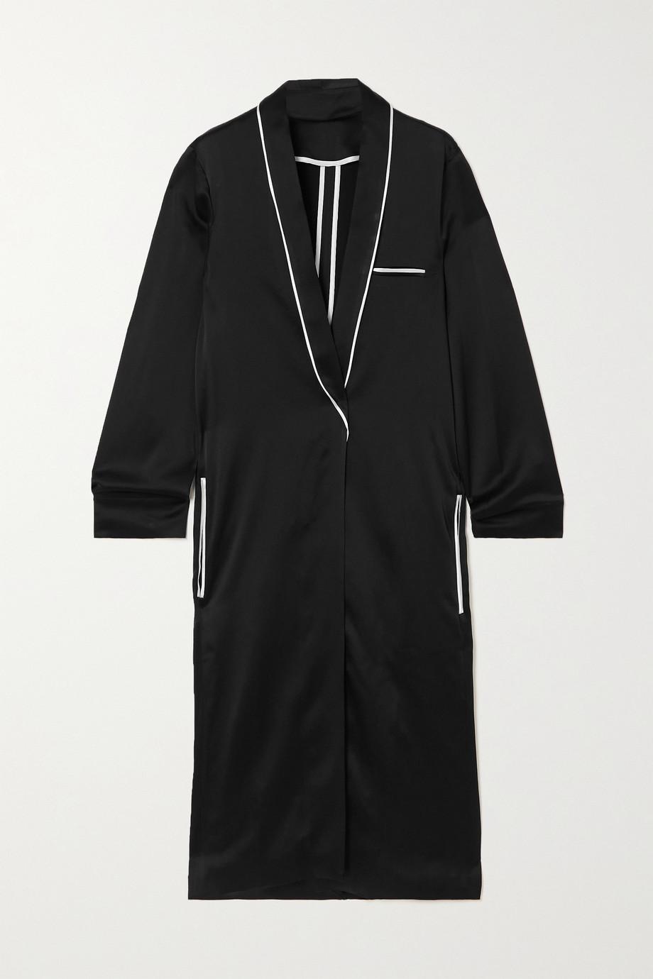 Haider Ackermann Peignoir piped satin-crepe jacket