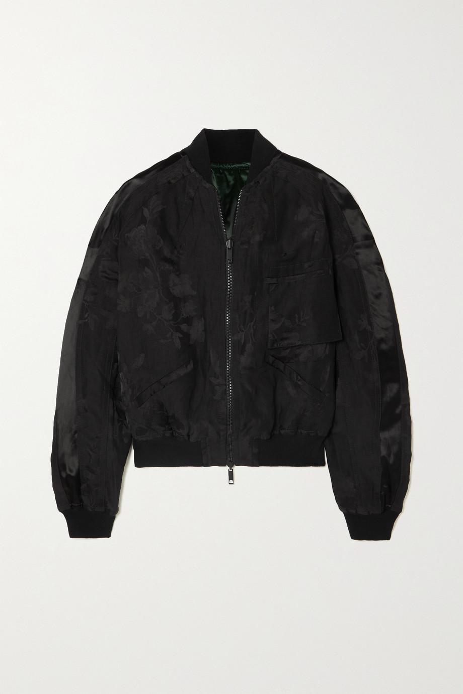 Haider Ackermann Reversible satin and floral-jacquard bomber jacket