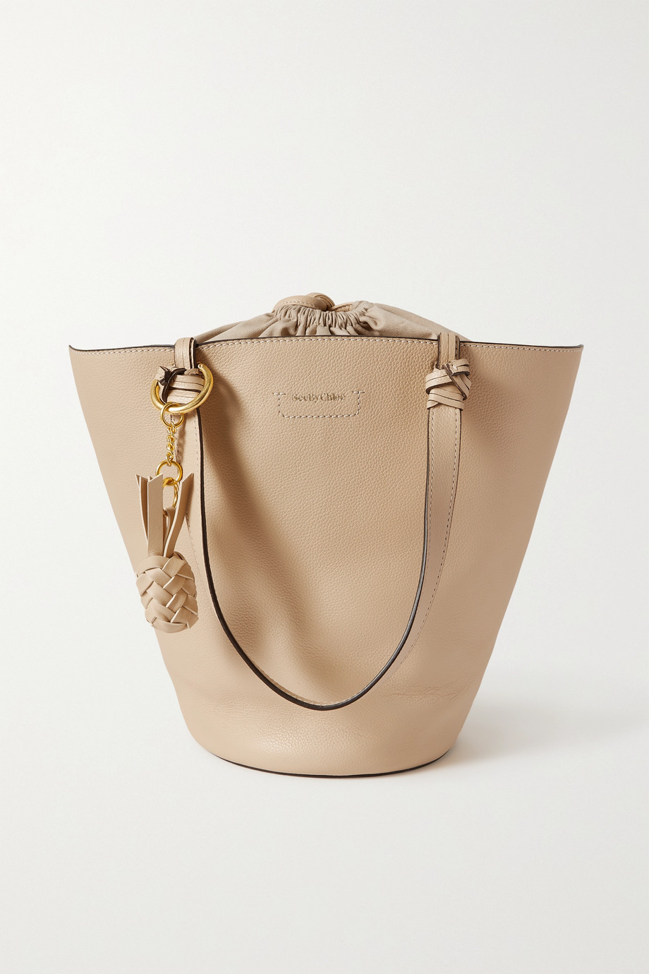 See By Chloé Cecilia textured-leather bucket bag