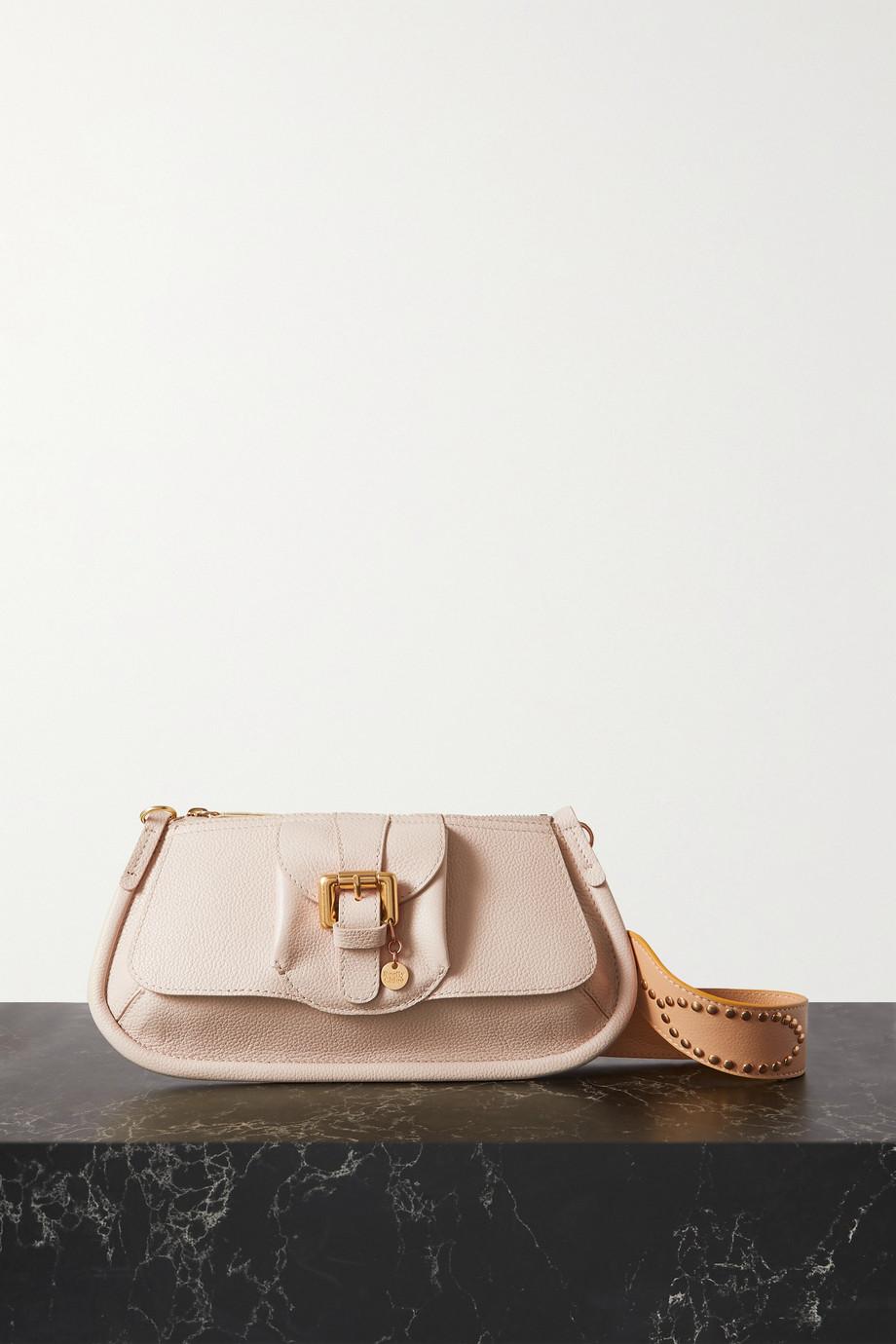 See By Chloé Lesly Schultertasche aus strukturiertem Leder mit Verzierung