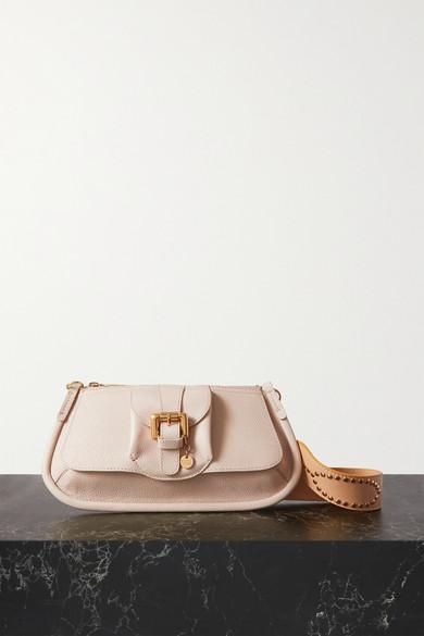 See By Chloé LESLY EMBELLISHED TEXTURED-LEATHER SHOULDER BAG