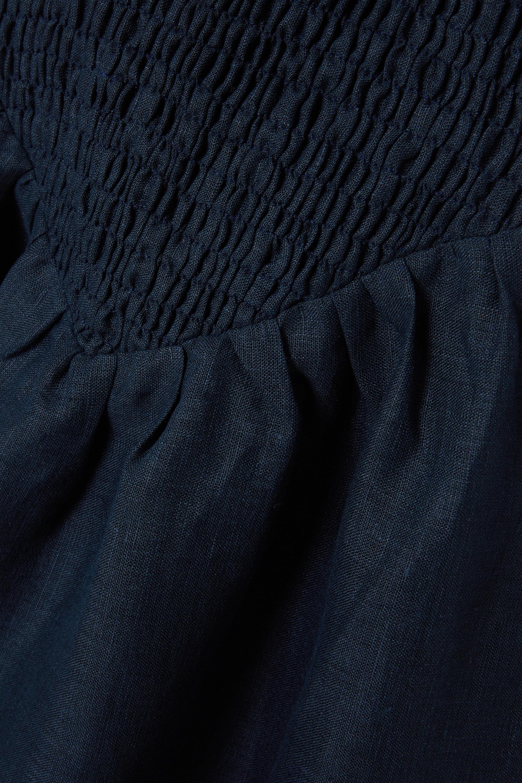Sleeper Belle shirred linen midi dress