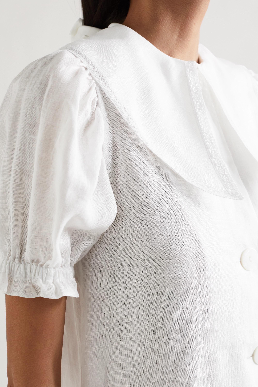 Sleeper Marie convertible linen mini dress and scarf set